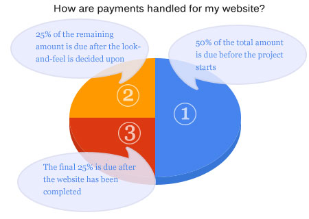 How the payments for your professional website are handled